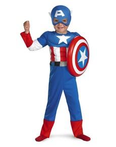 Kostium kapitan ameryka zimowy o nierz retro muskularny dla
