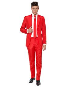 Kostium Solid Red Suitmeister