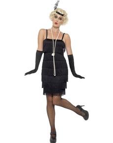 Kostium dama w czarnym lata 20. damski