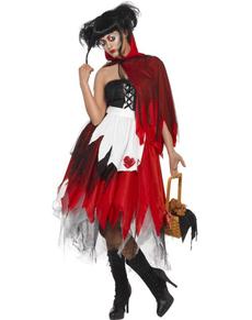 Kostium krwawy czerwony kapturek